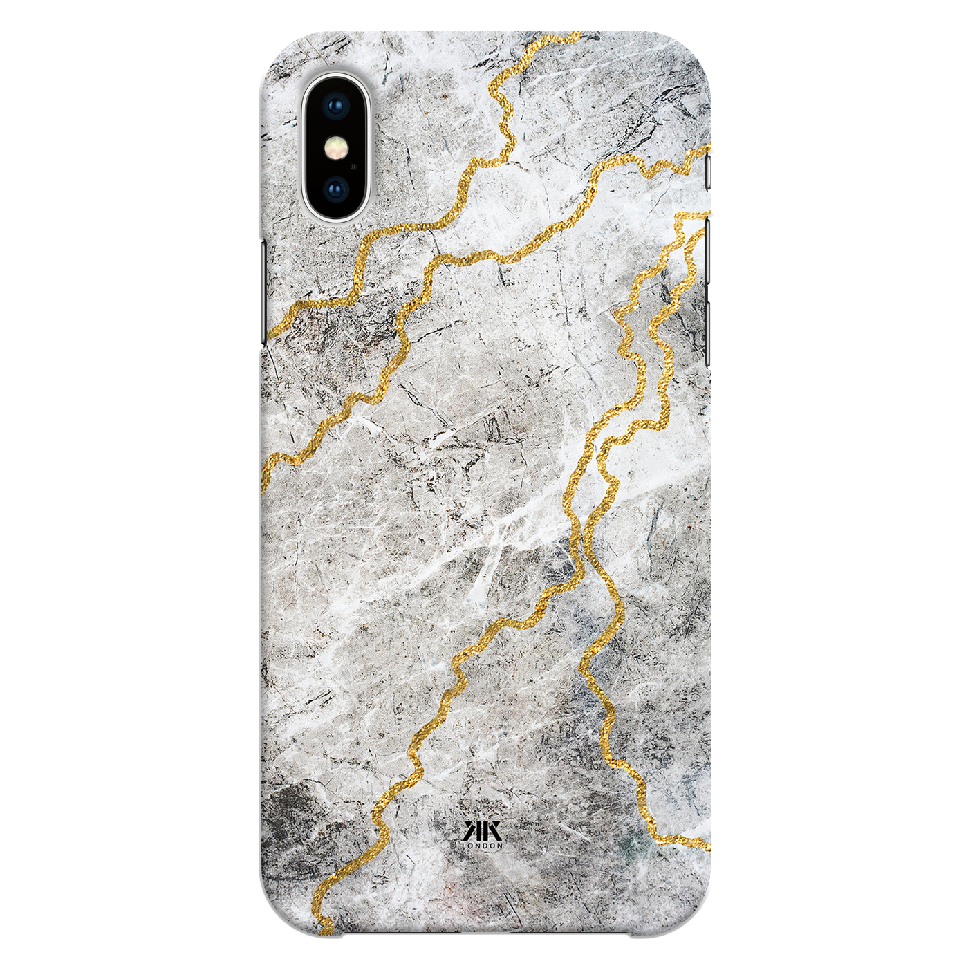 Grey Marble Gold Lines Phone Cases Covers By Kk Designs